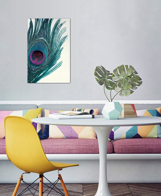 """iCanvas """"Feather"""" by Claudia Drossert Gallery-Wrapped Canvas Print (40 x 26 x 0.75)"""