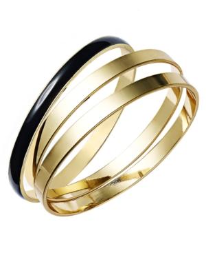 Charter Club Bracelet Set, Gold Tone and Black Resin Bangles