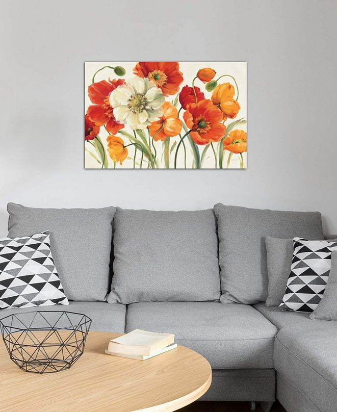 "iCanvas ""Poppies Melody I"" by Lisa Audit Gallery-Wrapped Canvas Print (26 x 40 x 0.75)"