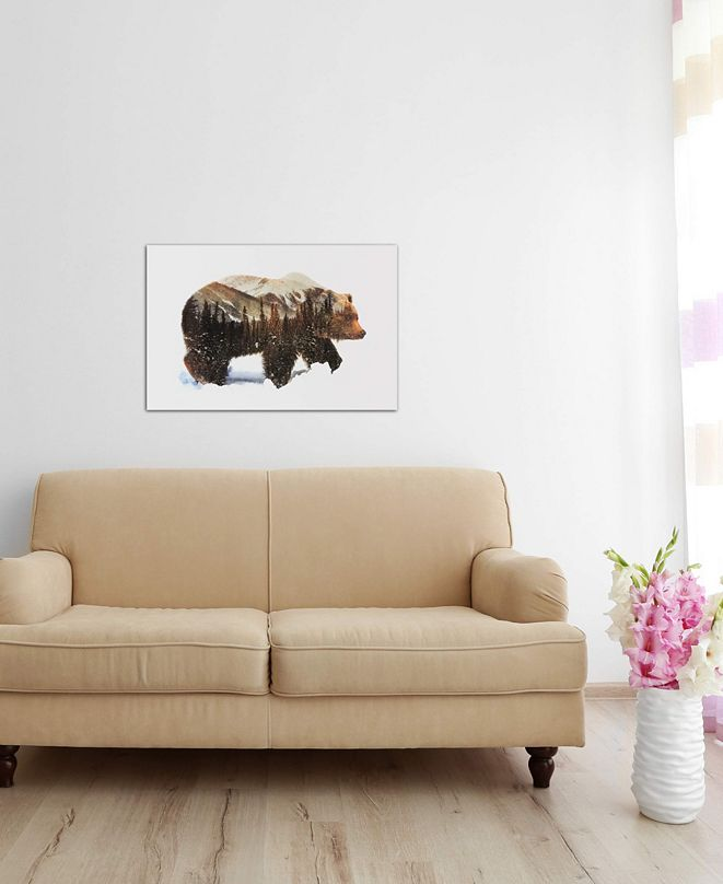 """iCanvas """"Arctic Grizzly Bear"""" by Andreas Lie Gallery-Wrapped Canvas Print (18 x 26 x 0.75)"""