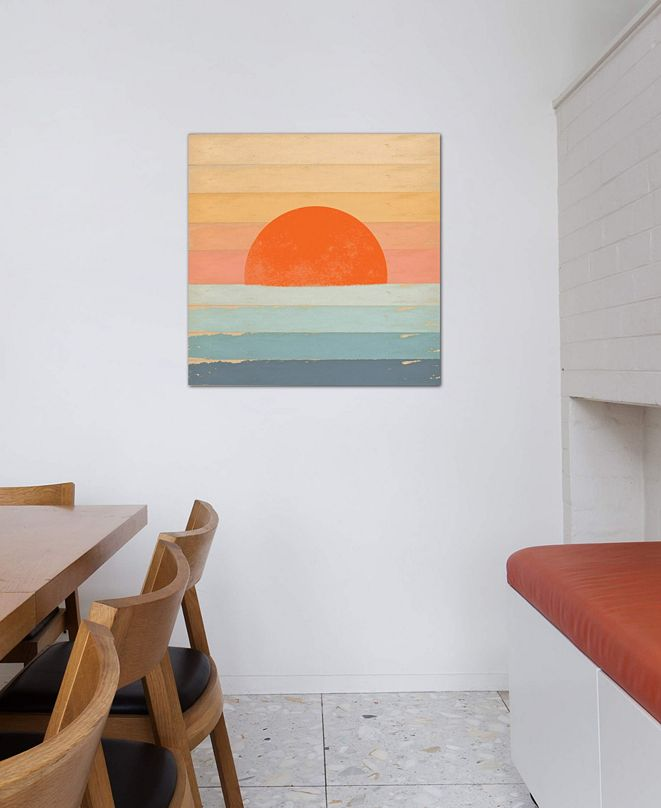 """iCanvas """"Sunrise Over The Sea"""" by Tammy Kushnir Gallery-Wrapped Canvas Print (26 x 26 x 0.75)"""