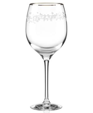 kate spade new york Iced Beverage Glass, Gardner Street Platinum Signature
