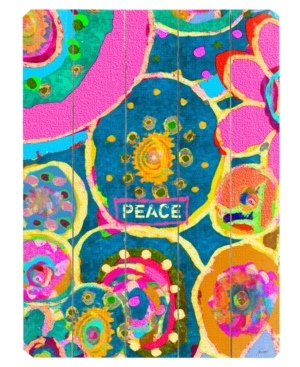 ArteHouse Wall Art, Peace Wooden Sign by Lisa Weedn Small