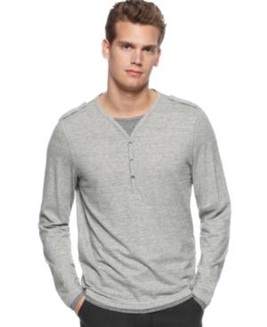 Calvin Klein Shirt, Three Button Henley