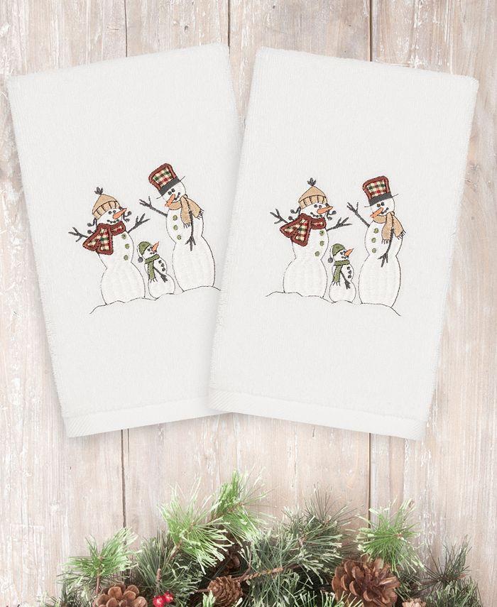 Linum Home - Christmas Snow Family 100% Turkish Cotton 2-Pc. Hand Towel Set