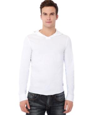 Buffao David Bitton Shirt, Naken Hooded Long Sleeve Shirt