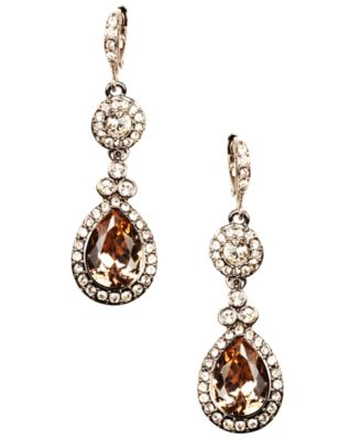 Givenchy Earrings, Silk Glass Teardrop Earrings