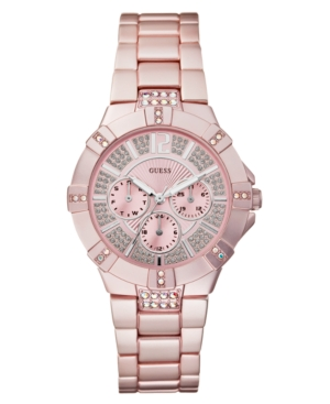 GUESS Watch, Women's Light Pink Aluminum Bracelet 41mm U12657L2