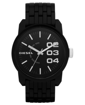 Diesel Watch, Black Plastic Bracelet 54x46mm DZ1523 $ 140.00