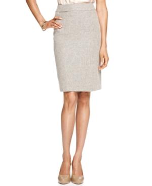 Calvin Klein Skirt, Linen Blend Tweed Pencil