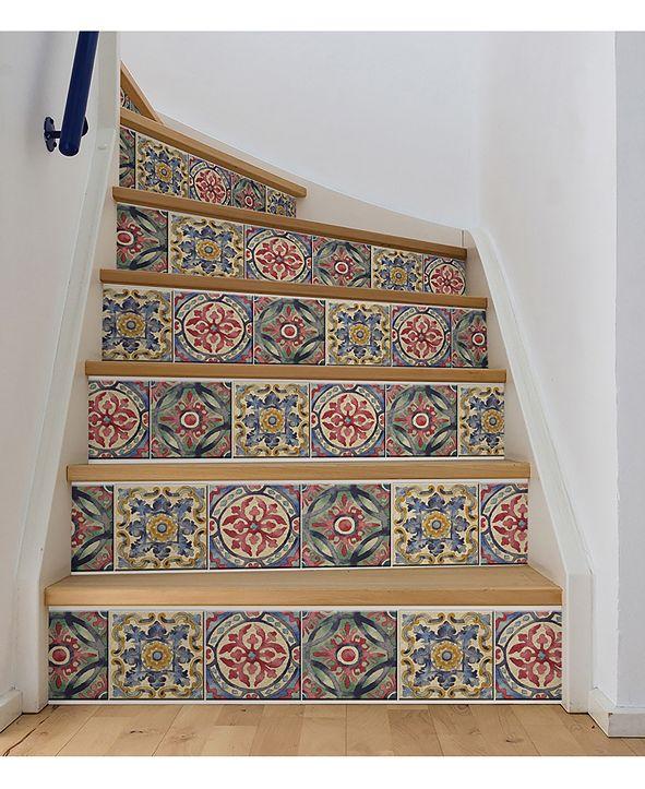 Brewster Home Fashions Iznik Tile Stair Stripe Decal