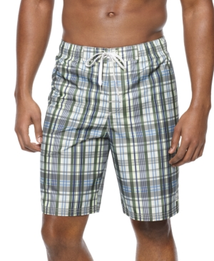 Izod Swimwear, Charles Plaid Board Shorts