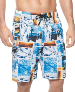 ZeroXposur Swimwear, Vision Printed Swim Trunks