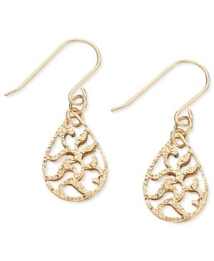 Giani Bernini 24k Gold over Sterling Silver Earrings, Filigree Teardrop Earrings