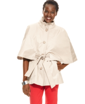 Betsey Johnson Coat, Cape Belted