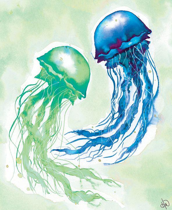 "Creative Gallery Jellyfish Dance 24"" X 36"" Canvas Wall Art Print"