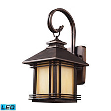 1 Light Outdoor Wall Sconce in Hazelnut Bronze - LED Offering Up To 800 Lumens (60 Watt Equivalent)