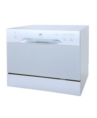 Spt Appliance Inc Spt Countertop Dishwasher In Silver Reviews Small Appliances Kitchen Macy S