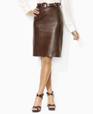Lauren by Ralph Lauren Skirt, Vivienne Leather Pencil