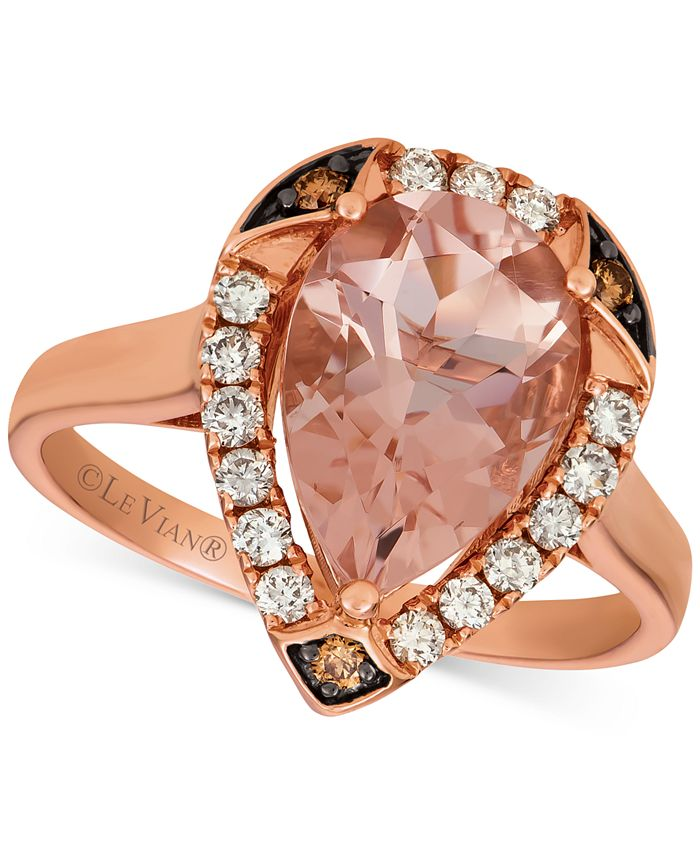 Le Vian - Morganite (2-1/3 ct. t.w.) & Diamond (1/3 ct. t.w.) Ring in 14k Rose Gold