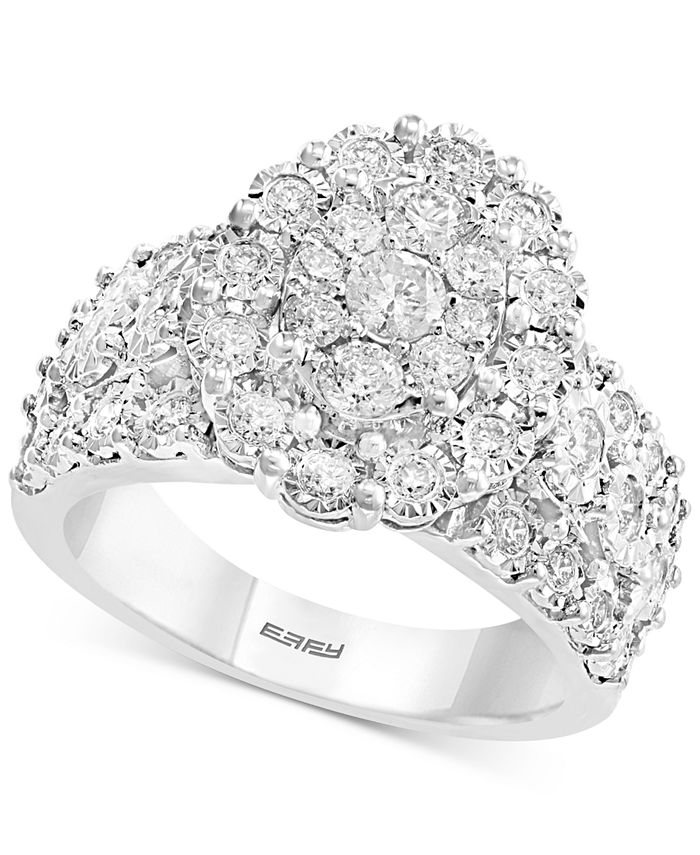 EFFY Collection - Diamond Oval Cluster Ring (9/10 ct. t.w.) in 14k White Gold