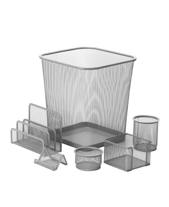 Honey Can Do - 6-pc. Mesh Desk Set