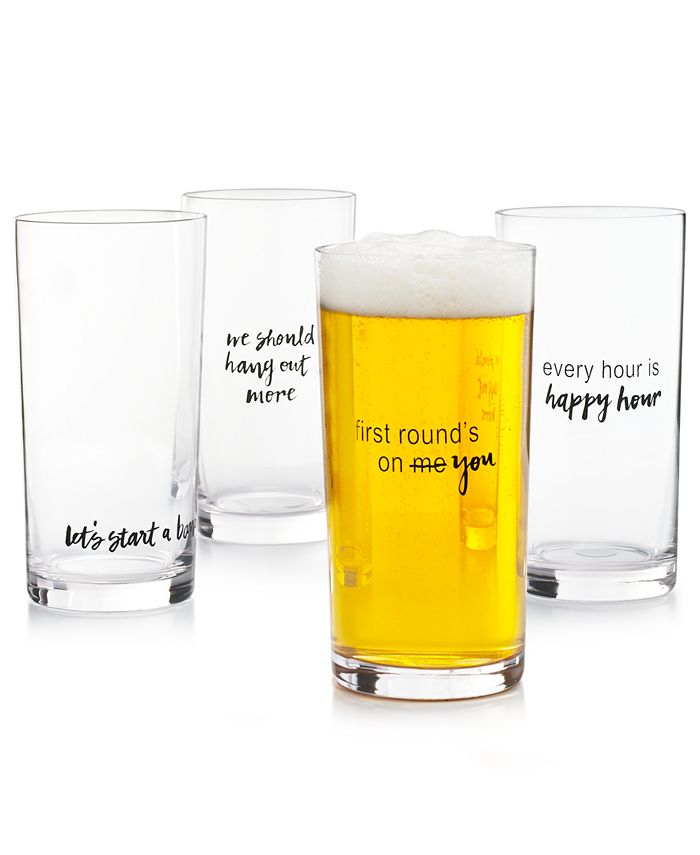 The Cellar - Words Pint Glasses, Set of 4