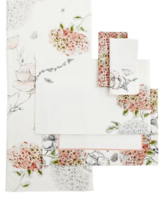 "Edie Rose by Rachel Bilson  Table Linens, 70"" Hydrangea Runner"