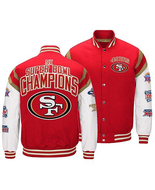 Authentic Nfl Apparel Men S San Francisco 49ers Home Team Varsity Jacket Reviews Sports Fan Shop By Lids Men Macy S