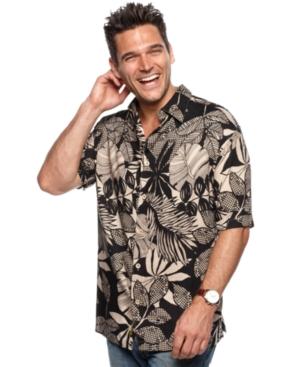 Cubavera Shirt, Short Sleeve Essentials Tropical Shirt