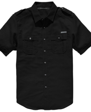 Sean John Shirt Short Sleeved LinenBlend Shirt