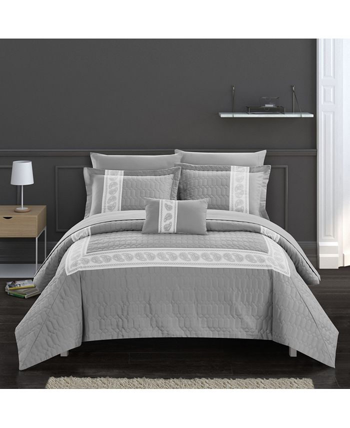 Chic Home - Titian 8-Pc. Bed In a Bag Comforter Sets
