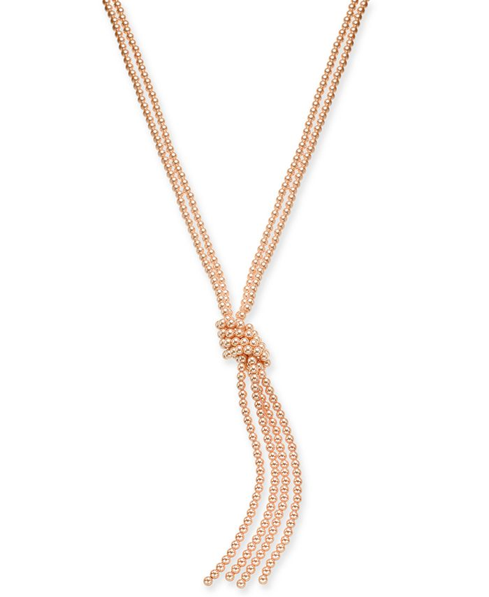 """Charter Club - Colored Imitation Pearl Knotted Lariat Necklace, 28"""" + 2"""" extender"""