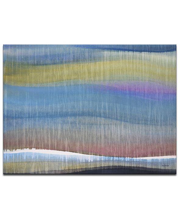 "Ready2HangArt 'Colored Horizon' Abstract Canvas Wall Art, 20x30"""