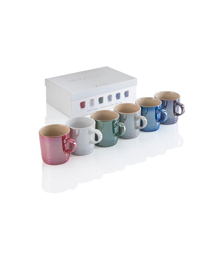 Le Creuset - Metallic Mugs, Set of 6