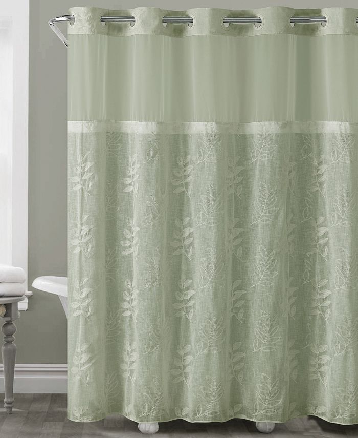 Hookless - Palm Leaves 3-in-1 Shower Curtain