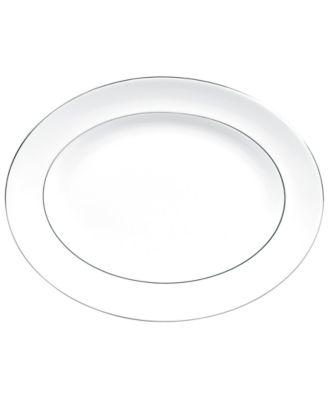 Vera Wang Wedgwood Dinnerware, Blanc sur Blanc Large Oval Platter