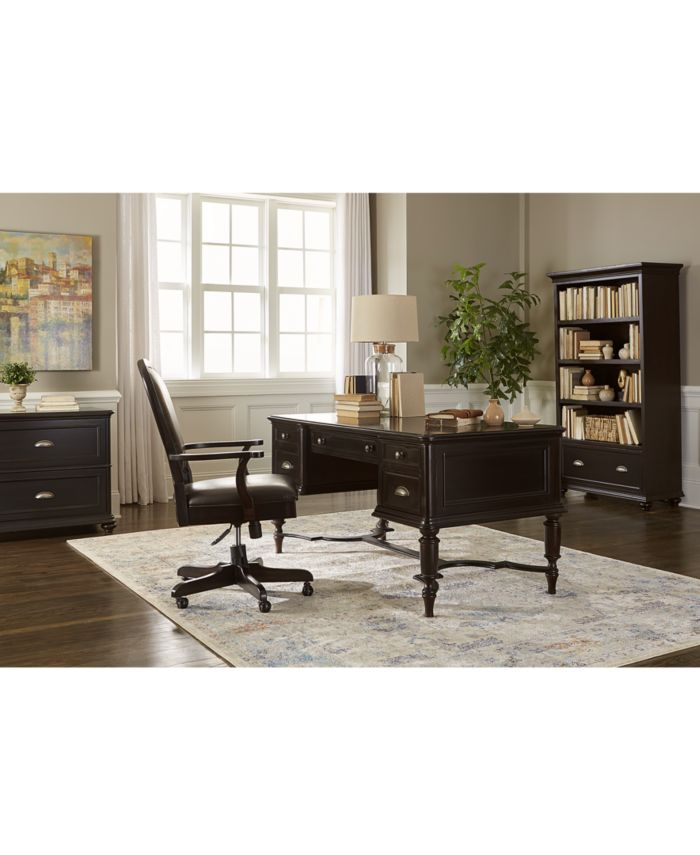Furniture Clinton Hill Ebony Home Office Writing Desk & Reviews - Furniture - Macy's