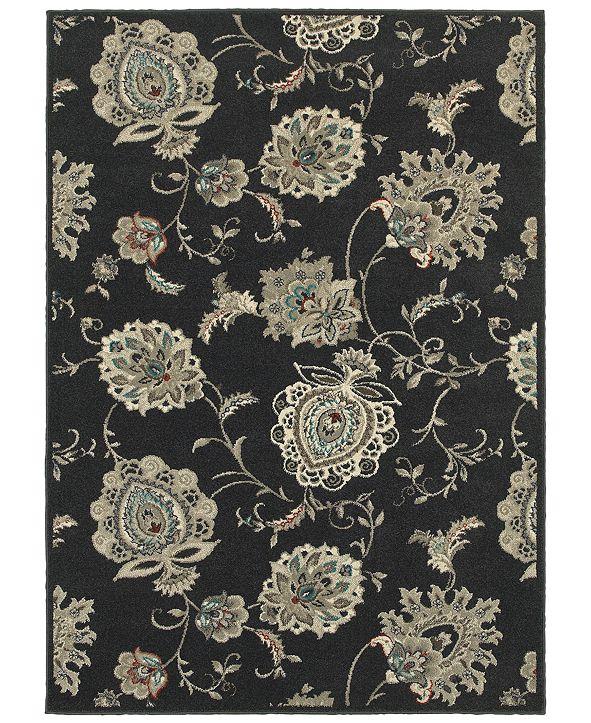"Oriental Weavers Highlands 2444I Midnight/Ivory 9'10"" x 12'10"" Area Rug"