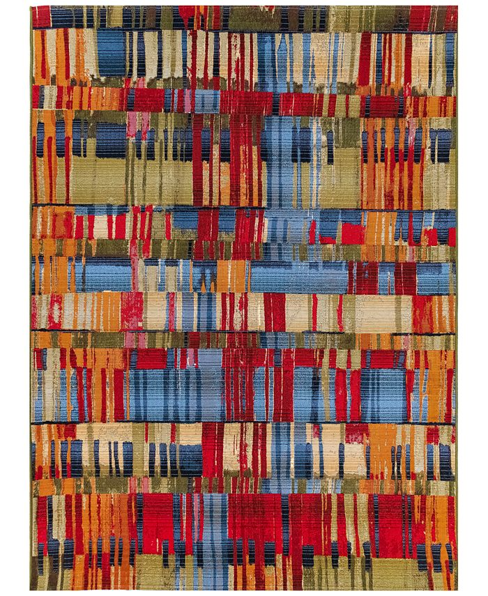 "Liora Manne' - Marina 8036 Paintbox Multi 7'10"" x 9'10"" Indoor/Outdoor Area Rug"