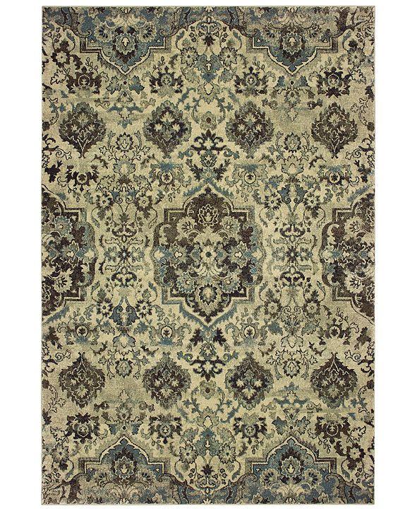 "Oriental Weavers Raleigh 8027J Ivory/Gray 5'3"" x 7'6"" Area Rug"