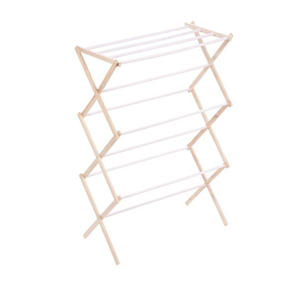 Honey Can Do Wooden Laundry Drying Rack