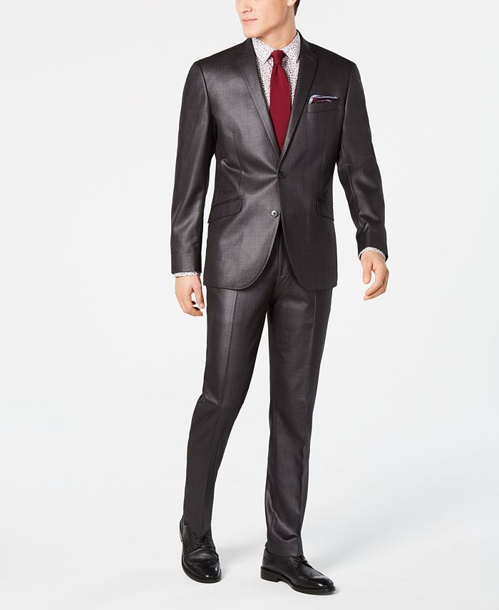 Kenneth Cole - Men's Slim-Fit Plaid Suit
