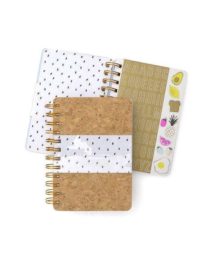 Mara-Mi - Cork & Clear Mini Spiral Notebook