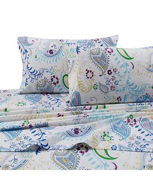 Tribeca Living Paisley Garden Extra Deep Pocket Twin Flannel Sheet Set Reviews Sheets Pillowcases Bed Bath Macy S