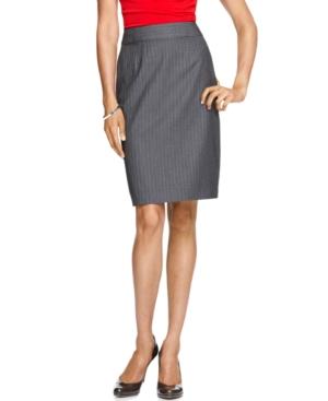 Calvin Klein Skirt, Pinstriped Suiting