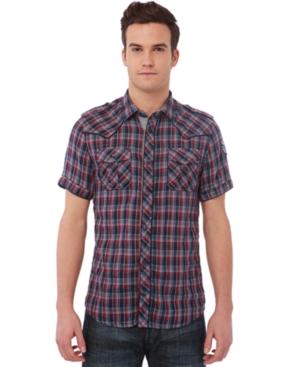 Buffalo David Bitton Shirt, Short Sleeve Sonarp
