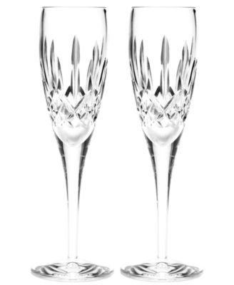 Waterford Stemware, Lismore Nouveau Toasting Flutes, Set of 2