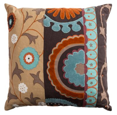 """20"""" x 20"""" Flourished Medallion Down Filled Pillow"""