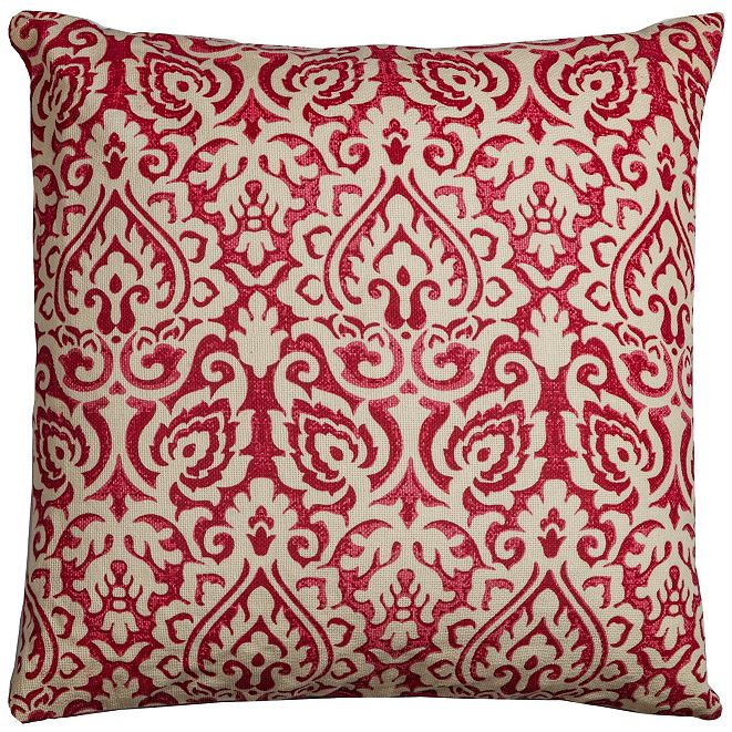 """Rizzy Home 22"""" x 22"""" Damask Down Filled Pillow"""